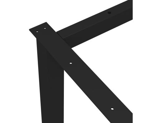 vidaXL Pied en H de table de salle à manger 180x80x72 cm[4/6]