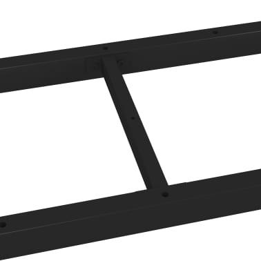 vidaXL Pied en H de table de salle à manger 180x80x72 cm[5/6]