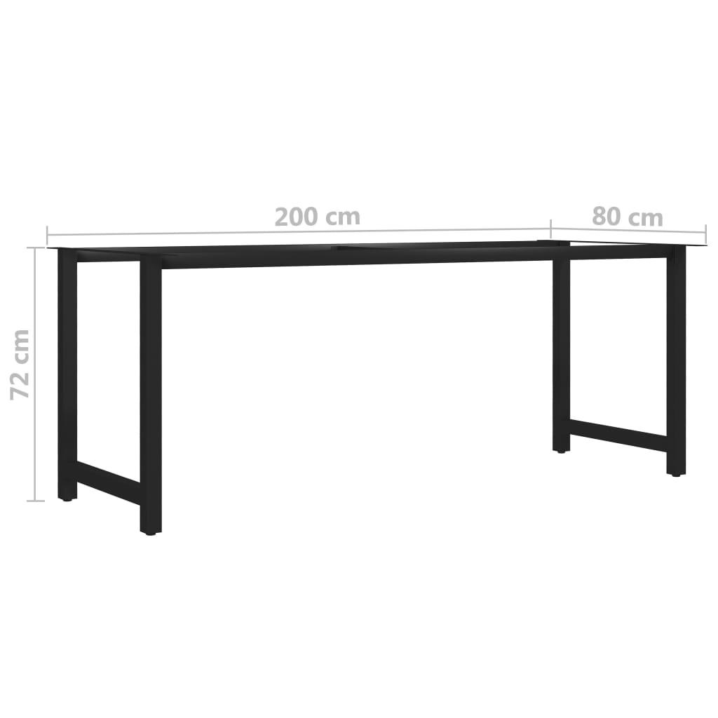 vidaXL Eettafelpoot H-frame 200x80x72 cm
