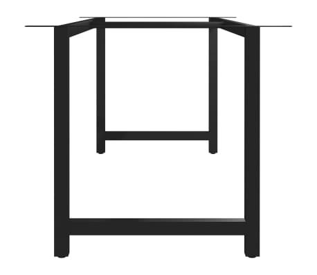 vidaXL Pied en H de table de salle à manger 200x80x72 cm[3/6]