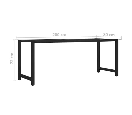 vidaXL Pied en H de table de salle à manger 200x80x72 cm[6/6]