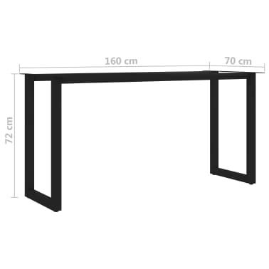 vidaXL Pied en O de table de salle à manger 160x70x72 cm[6/6]