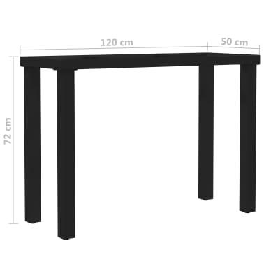 vidaXL Pied en I de table de salle à manger 120x50x72 cm[6/6]
