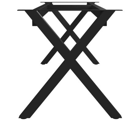 vidaXL Pied en X de banc 125x36x42 cm[3/6]
