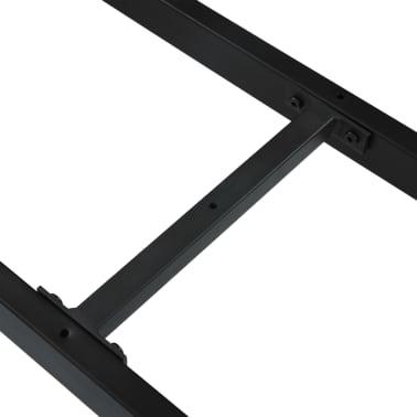 vidaXL Pied en X de banc 125x36x42 cm[5/6]