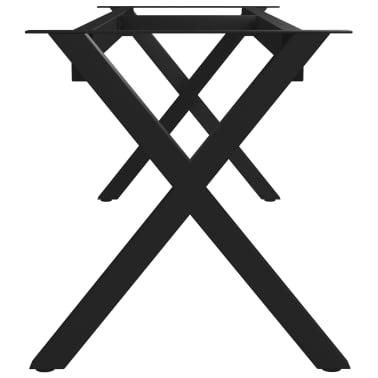 vidaXL Pied en X de banc 145x36x42 cm[3/6]