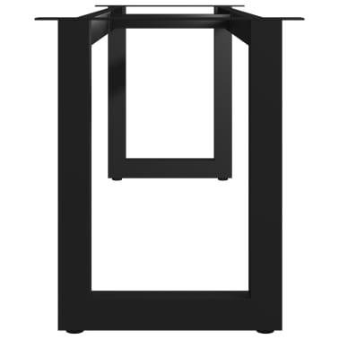 vidaXL Pied en O de banc 125x36x42 cm[3/6]