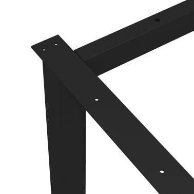 vidaXL Pied en O de banc 125x36x42 cm[4/6]