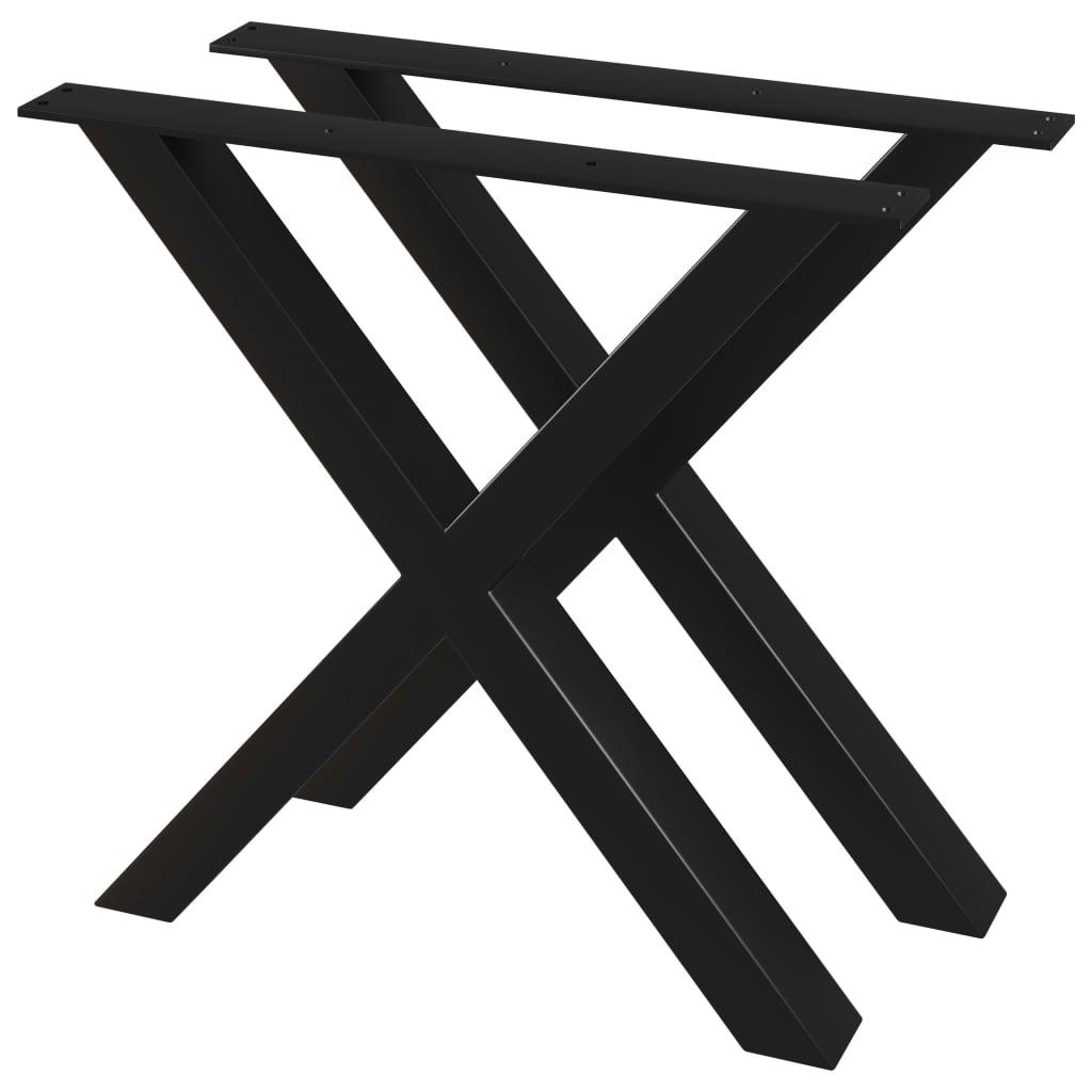 vidaXL Picioare de masă cu cadru în X, 2 buc., 80 x 72 cm imagine vidaxl.ro