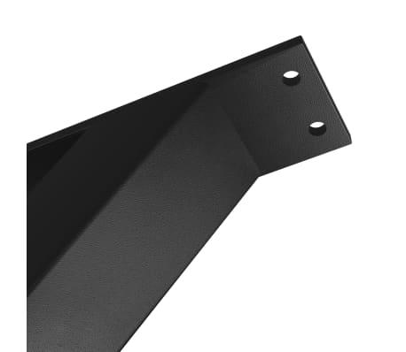 vidaXL Pieds de table de salle à manger 2 pcs Cadre en X 80x72 cm[3/4]
