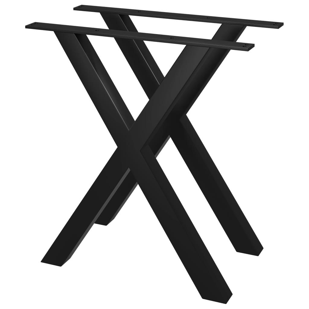 vidaXL Picioare de masă cu cadru în X, 2 buc., 70 x 72 cm imagine vidaxl.ro