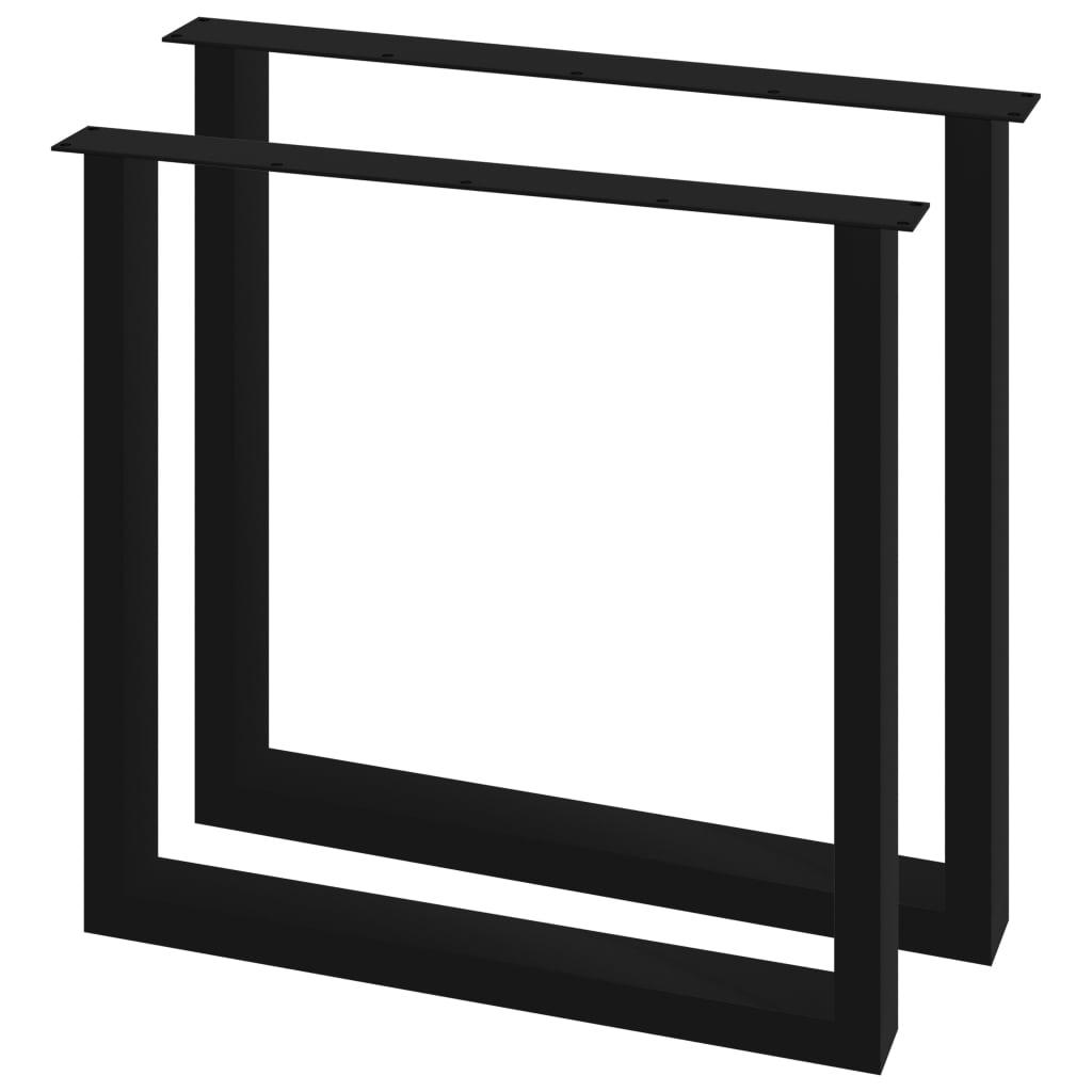 vidaXL Picioare de masă cu cadru în O, 2 buc., 80 x 72 cm poza 2021 vidaXL