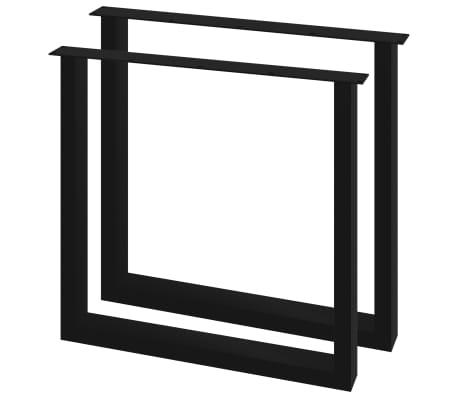 vidaXL Pieds de table de salle à manger 2 pcs Cadre en O 80x72 cm[1/4]