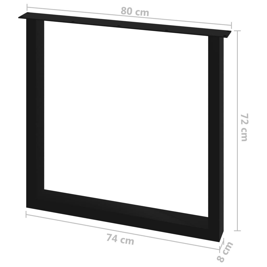 vidaXL Eettafelpoten 2 st O-frame 80x72 cm