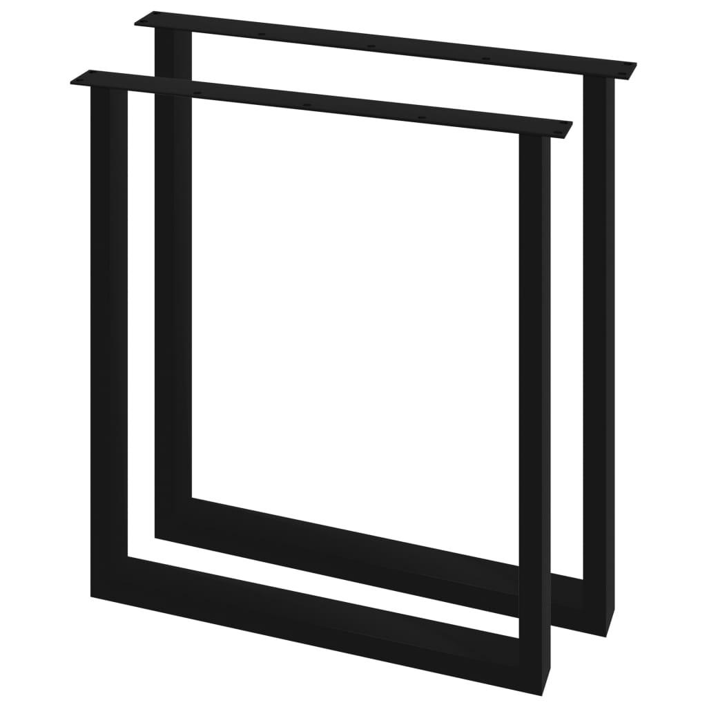 vidaXL Picioare de masă cu cadru în formă de O, 2 buc., 70 x 72 cm imagine vidaxl.ro