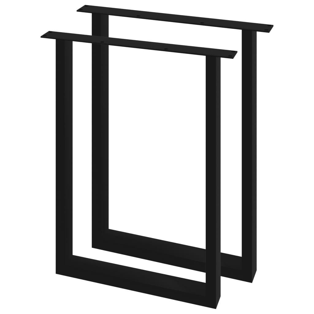 vidaXL Picioare de masă cu cadru în formă de O, 2 buc., 60 x 72 cm imagine vidaxl.ro