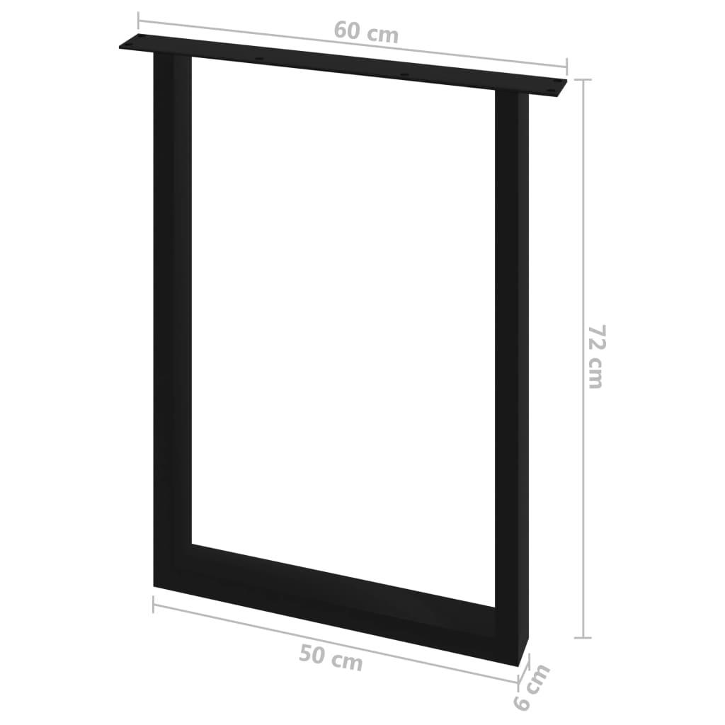 vidaXL Eettafelpoten 2 st O-frame 60x72 cm
