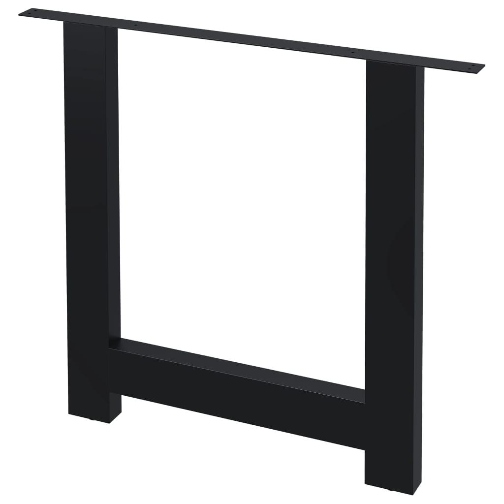 vidaXL Picioare de masă cu cadru în formă de H, 2 buc., 80 x 72 cm imagine vidaxl.ro
