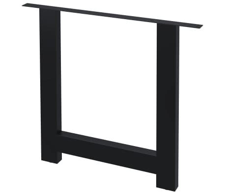 vidaXL Pieds de table de salle à manger 2 pcs Cadre en H 80x72 cm[1/4]