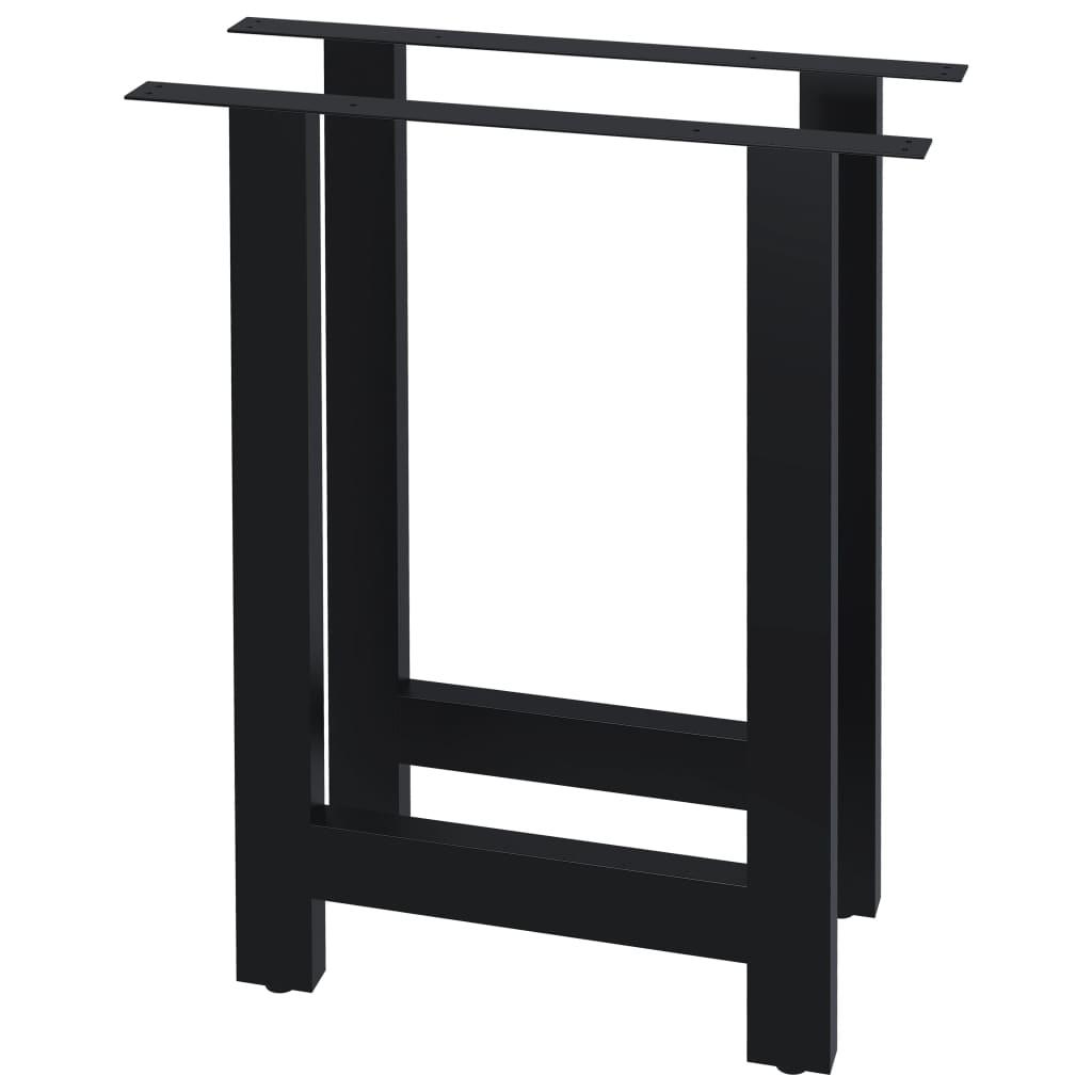 vidaXL Picioare de masă cu cadru în formă de H, 2 buc., 70 x 72 cm poza 2021 vidaXL