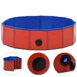 vidaXL Skládací bazén pro psy červený 80 x 20 cm PVC