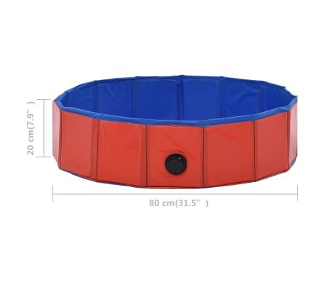 vidaXL Piscine pliable pour chiens Rouge 80x20 cm PVC[9/9]