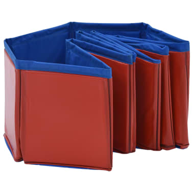 vidaXL Piscine pliable pour chiens Rouge 80x20 cm PVC[5/9]