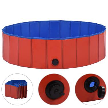 vidaXL Piscine pliable pour chiens Rouge 120x30 cm PVC[2/9]