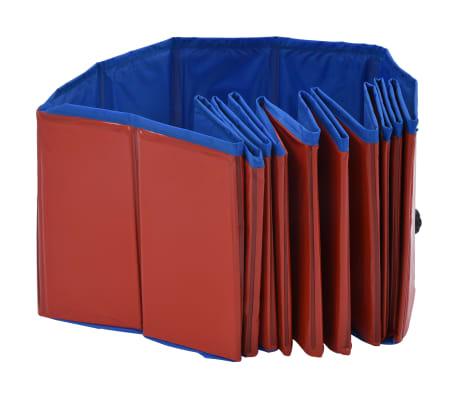 vidaXL Piscine pliable pour chiens Rouge 120x30 cm PVC[5/9]