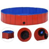 vidaXL Kokoontaitettava koiran uima-allas punainen 160x30 cm PVC