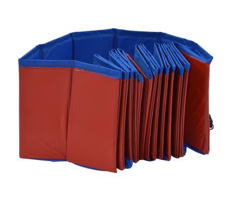 vidaXL Piscine pliable pour chiens Rouge 160x30 cm PVC[4/9]