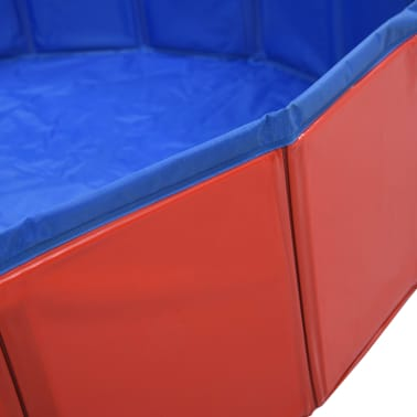 vidaXL Piscine pliable pour chiens Rouge 160x30 cm PVC[5/9]