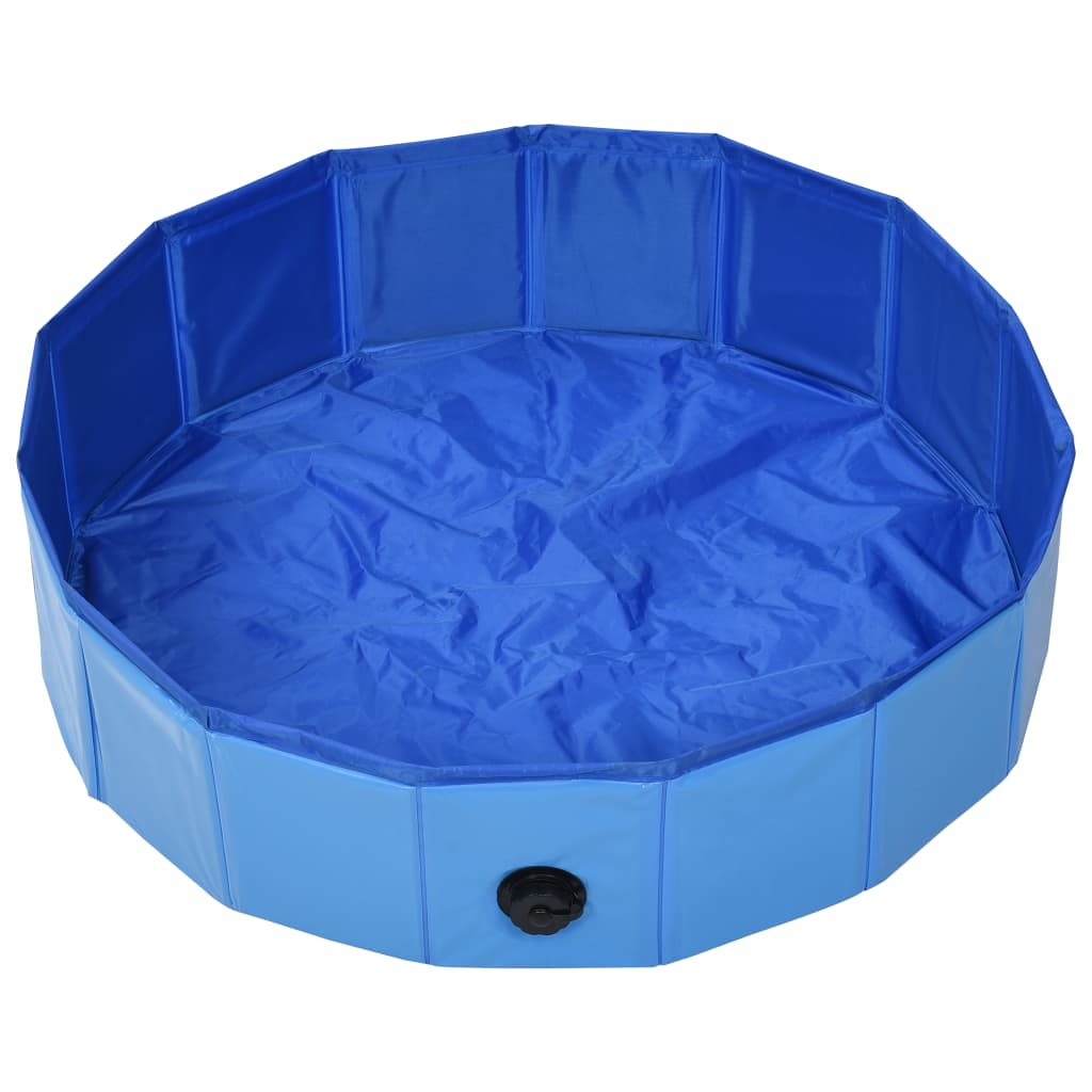 vidaXL Hondenzwembad inklapbaar 80x20 cm PVC blauw