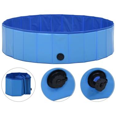 vidaXL Piscine pliable pour chiens Bleu 120x30 cm PVC[2/9]