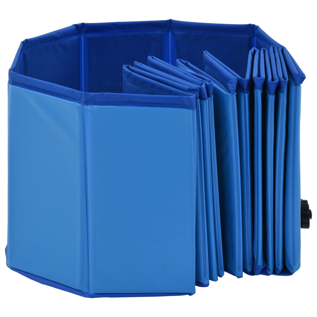 vidaXL Hondenzwembad inklapbaar 120x30 cm PVC blauw