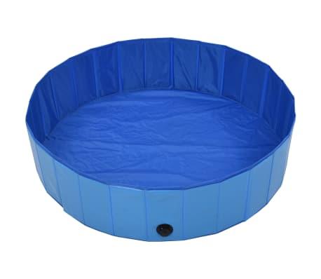 vidaXL Piscine pliable pour chiens Bleu 120x30 cm PVC[3/9]