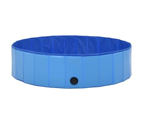 vidaXL Piscine pliable pour chiens Bleu 120x30 cm PVC[4/9]