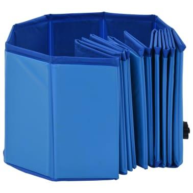vidaXL Piscine pliable pour chiens Bleu 120x30 cm PVC[5/9]