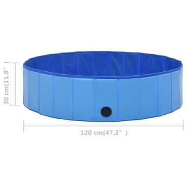 vidaXL Piscine pliable pour chiens Bleu 120x30 cm PVC[9/9]