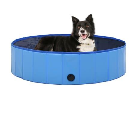 vidaXL Piscine pliable pour chiens Bleu 120x30 cm PVC[1/9]