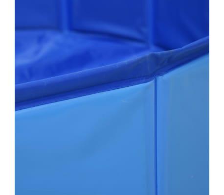 vidaXL Piscine pliable pour chiens Bleu 160x30 cm PVC[5/8]
