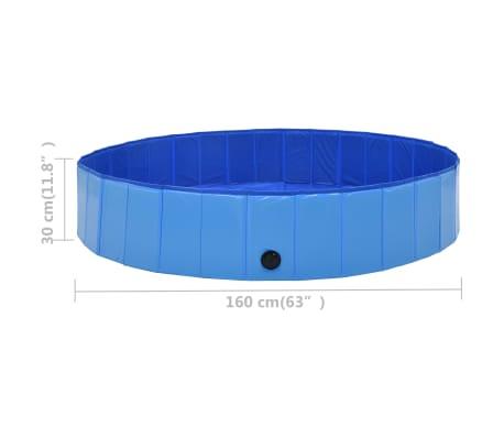 vidaXL Piscine pliable pour chiens Bleu 160x30 cm PVC[8/8]