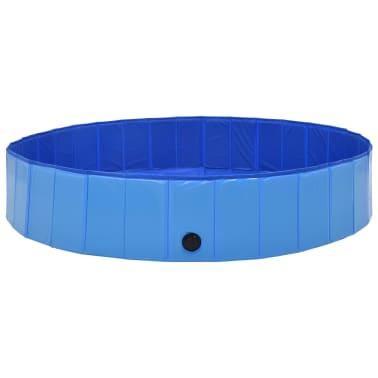 vidaXL Piscine pliable pour chiens Bleu 160x30 cm PVC[2/8]