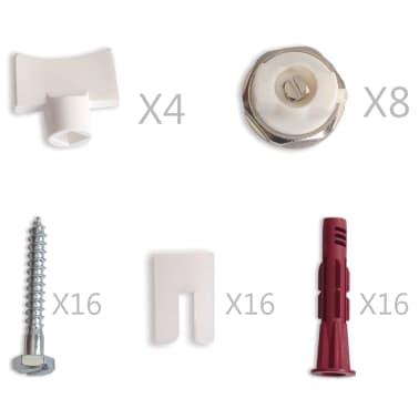 vidaXL Värmeelement sidomonterat 4 st 120x10x60 cm[5/7]