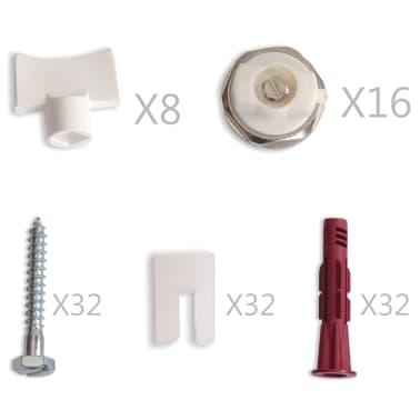 vidaXL Värmeelement sidomonterat 8 st 120x10x60 cm[5/7]
