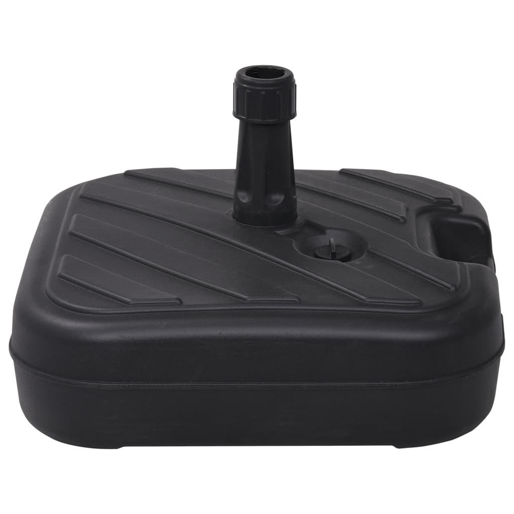 vidaXL Suport de umbrelă, negru, 24 L, umplere cu nisip/apă poza 2021 vidaXL