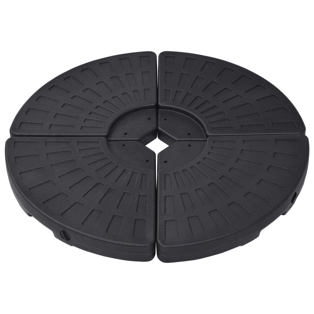 vidaXL Suport de umbrelă în formă de evantai, 4 buc., negru imagine vidaxl.ro