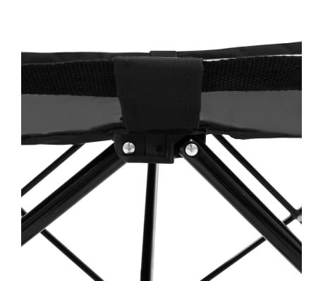 vidaXL Chaise longue pliable Noir Acier