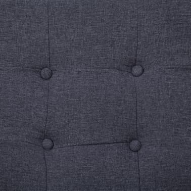 vidaXL 2-Seater Sofa with Armrests Dark Gray Steel and Fabric[7/8]