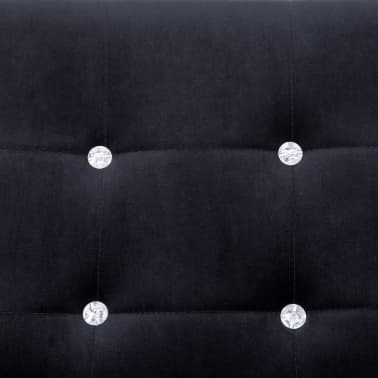 vidaXL 2-Seater Sofa with Armrests Black Chrome and Velvet[7/8]
